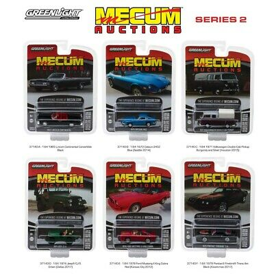 Mecum Auctions Collector Series 2 Set Of 6 Cars 1:64 Diecast By Greenlight 37140
