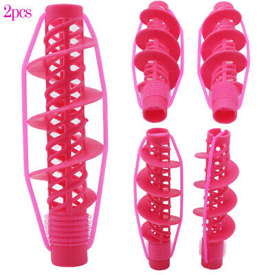 2 Pcs Soft Hair DIY Roll Style Roller Hair Curler Styling Care Tool Set Great