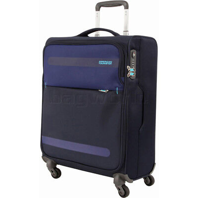 American Tourister Herolite Small/Cabin 55cm Softside Suitcase Midnight Blue 930