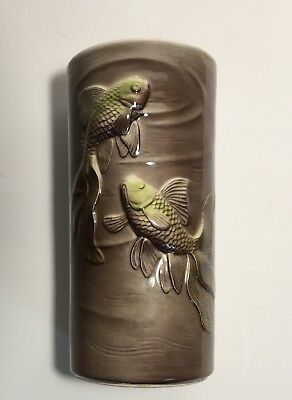 Vintage Royal Copely Koi Fish Vase