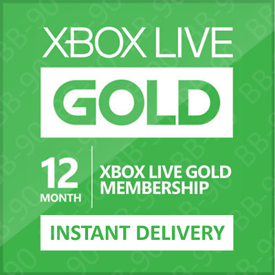 Xbox One/360 Live - 12 Month Gold Membership Subscription - Instant Email Code