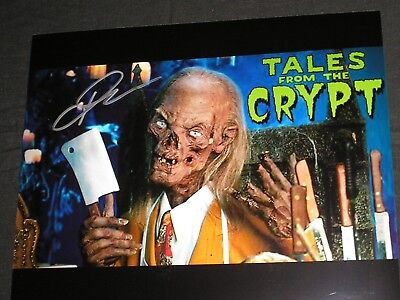 JOHN KASSIR Signed Cryptkeeper 8x10 Photo Tales of the Crypt Autograph B