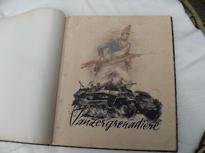 WW II German Panzergrenadere Bound set of Prints