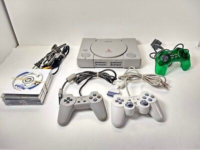 Sony PS1 PLaystation & Video Game lot w/ 7 Games:Final Fantasy 7/Crash Bandicoot