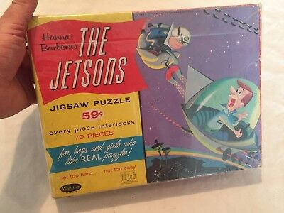 VINTAGE 1962 Whitman THE JETSONS Jigsaw Puzzle in BOX Nice RARE Hanna Barbera