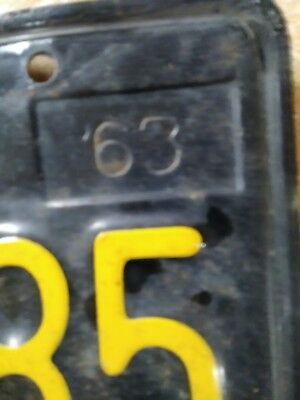 Vintage Set 1963 California License Plates-Matching (Pair)-Very Nice Condition-