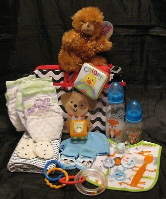 Reborn baby doll diaper bag complete accessory bottle diapers pacifier
