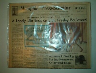 ELVIS Presley  Death Newspapers-Memphis Press-Scimitar & The Commercial Appeal