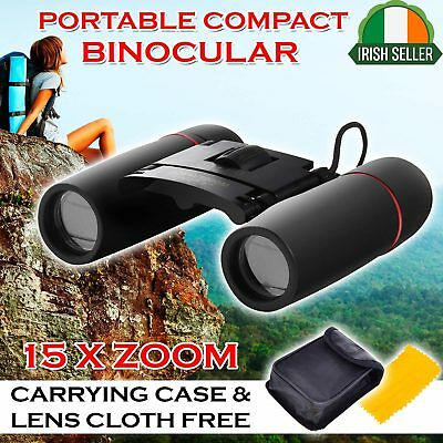 30×60 Mini Binoculars Foldable Roof Prism Pocket With Strap Carry Case Camping