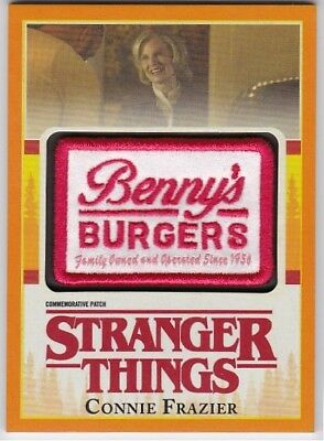 Connie Frazier Stranger Things Orange Benny's Burgers Patch 10/99