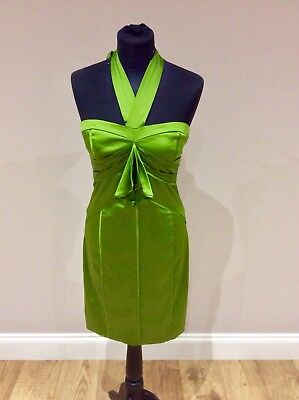 Ted. Baker Exquisite Lime Green Stretch Talk Of The Gown Dress. Size 1.