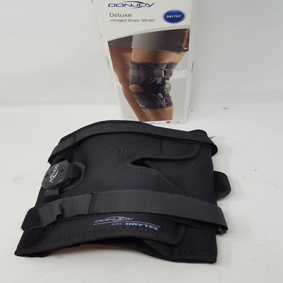 fa554f2f1e DonJoy Deluxe Hinged Knee Brace, Drytex Wrap Around, Open Popliteal,  XX-Large