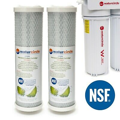 """2x0.5micron COCONUT & NSF material carbon block water filter cartridge 10""""x2.5"""""""