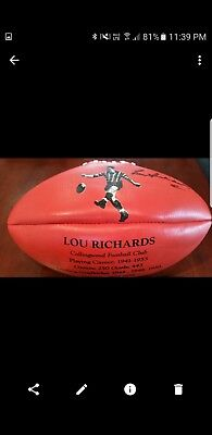 Collingwood Signed Picture Footy Very Rare