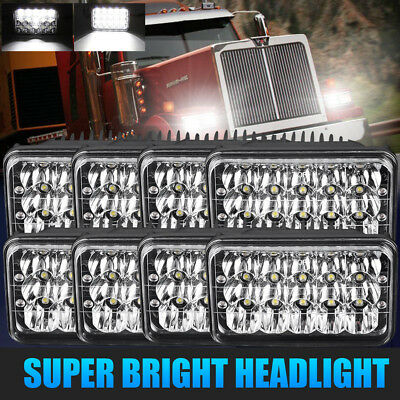 4 Pairs LED Headlights For Kenworth T400 T600 T800 W900B W900L Classic 120/132