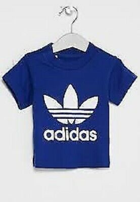 boys adidas t-shirt girls Originals trefoil infants tee top baby toddlers