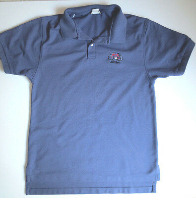 Short Sleeve LL Bean Embroidered Double L Polo Shirt Men's S Blue 100% Cotton
