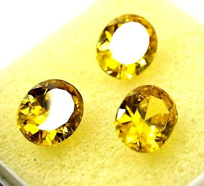 GGL Certified 19.10 Ct 3 Pcs Oval Cut Natural Lovely Cambodia Yellow Zircon Lot