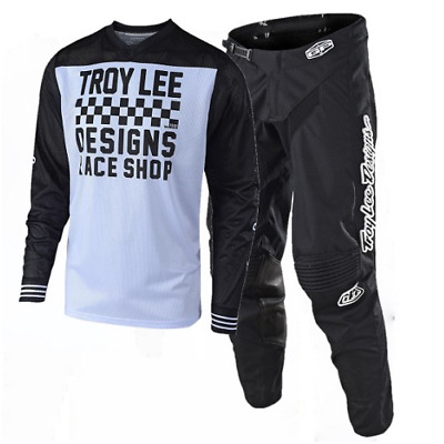 New TROY LEE DESIGNS TLD18.2 MX GP RACESHOP Blk Wh Jersey MONO Pants Outfit TLD