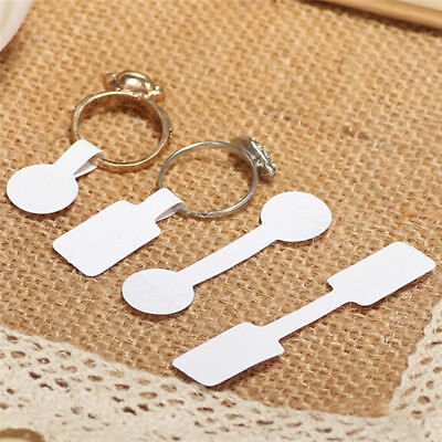 100X/Bag Blank Adhesive Sticker Ring Necklace Jewelry Display Price Label Tags G