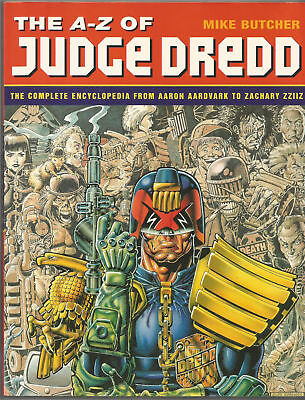 JUDGE DREDD (the A-Z of) 1st PRINTING HAMLYN BOOKS 1995 MIKE BUTCHER