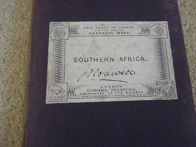 Antique Map Of South Africa By Edward Stanford