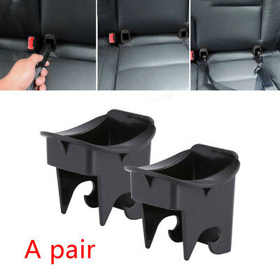 1 Pair Plastic Car Baby Seat ISOFIX Latch Belt Connector Guide Groove Black Pro