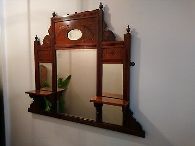 Antique Victorian Wall Mounted Mirror