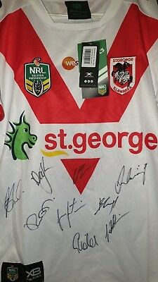 Signed NRL St George Illawarra Dragons Jersey 2018 (New With Tags) Size S