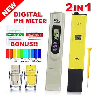 Premium Digital PH Meter / TDS Tester Aquarium Pool SPA Water Quality Monitor L3