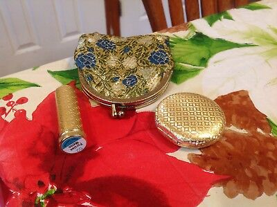 Vintage Revlon Love Pat Compact Lipstick And Coin Purse