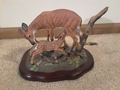 "Very Nice Tim Wolfe ""whitetail Spring"" ""2062 Sculpture 434/1250"