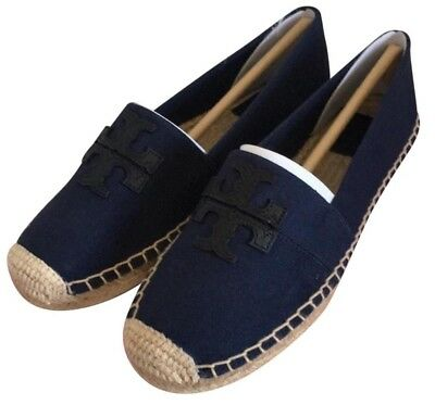 1de8baccce5 NWOB Tory Burch Shoes Weston Flat Espadrille Canvas Leather Bright Navy