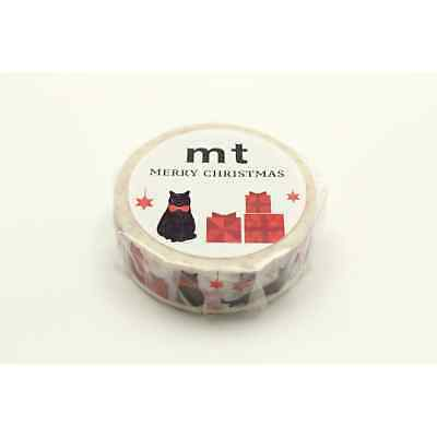 Masking Tape MT 1,5 cm Noel Chats cadeaux - christmas cats - Masking Tape (MT)