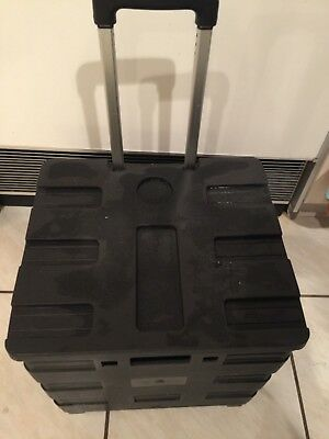 Collapsible Folding Smart Utility Cart ,Rolling Tote /c Lid