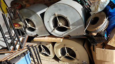 X4 Fischbach Large Powerful Centrifugal Industrial Heater Fans Used