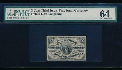 AC Fr 1226 $0.03 1864 fractional Third issue PMG 64