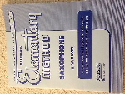 RUBANK ELEMENTARY METHOD SAXOPHONE MUSIC BOOK INSTRUCTION by N.H. Hovey
