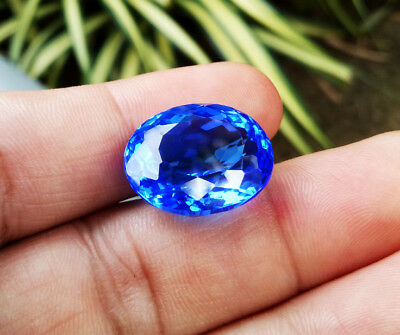 Precious! 20ct.19x16 EXCELLENT NEON BLUE TANZANITE OVAL CUT LOOSE GEMs AAA+