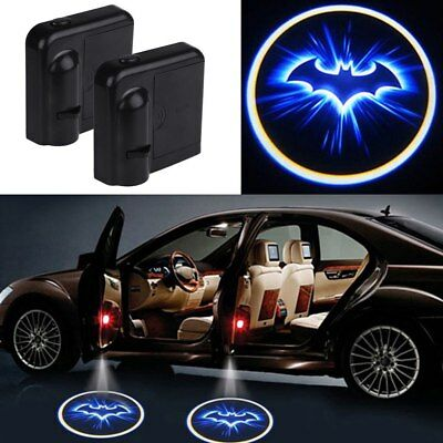 2PCS Wireless Car LED Door Welcome Projector Logo Batman Ghost Shadow light TOP