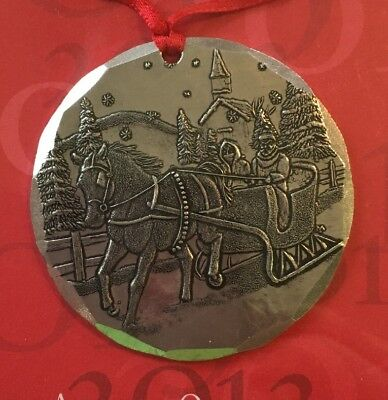"""Wendell August Forge aluminum 2013 Annual ORNAMENT 2""""  NEW Horse Drawn Carriage"""