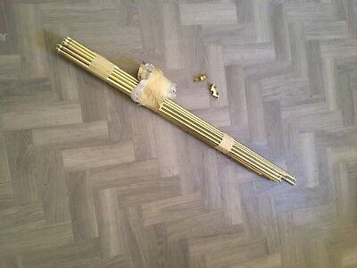 Brass Effect stair rods x 18 with Fittings