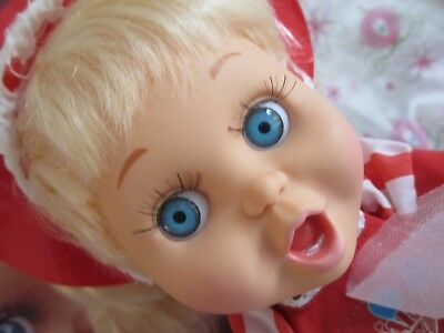 Vintage Baby Face Doll So Surprised Suzie...gorgeous...w/charm & Box!