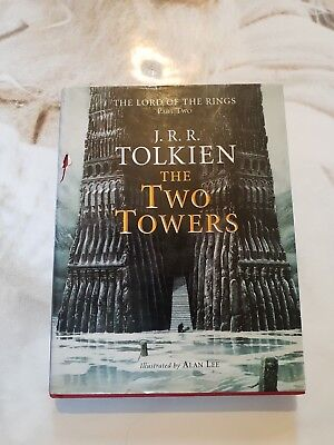 Tolkien LORD OF THE RINGS THE TWO TOWERS Hardback Alan Lee illustrated