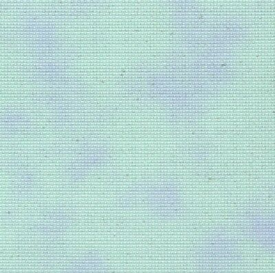 Fabric Flair Cloud Blue/Green with sparkles 14 count Aida, 45 x 50cm piece