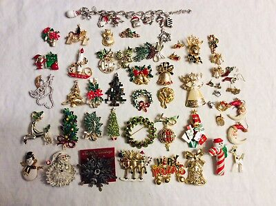 Vintage To Modern Christmas Jewelry Lot Brighton Weiss Tancer