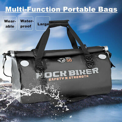 50L Motorcycle Multifunctional Waterproof Tail Travel Sport Rear Seat Bag Pack