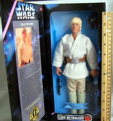 "1996 Luke Skywalker Kenner Star Wars Collector Series 12"" Action Figure Nib"
