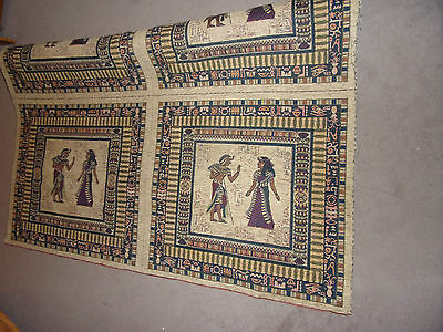 Thick Chinille fabric Egyptian Pharaoh Design PANEL DESIGN for cushions hangings