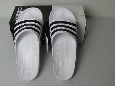 bfba55a5c NWT ADIDAS ORIGINALS Men s Duramo Slide Sandals Red   White Sizes 10 ...